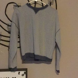 Cool blue fuzzy sweater